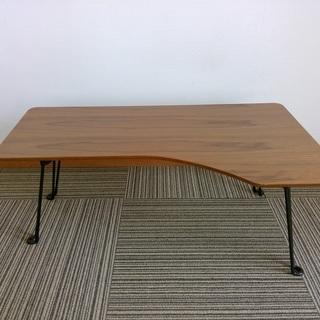 折りたたみ式 L字デザインテーブル