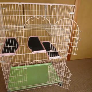 猫用ケージ 2段