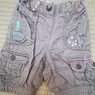 next パンツ 約80サイズ モスグレー