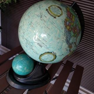【中古】地球儀 星座 天球儀付き レトロ 卓上インテリア