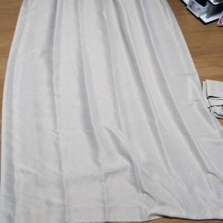 【美品】ニトリカーテン(100cm×210cm、2枚、ベージュ)