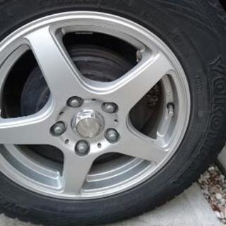 アルミホイール タイヤはおまけ程度 175/80R15 4本 パジ...