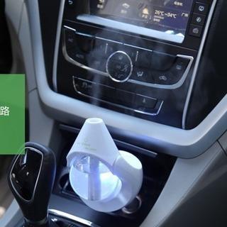 新品 加湿器 卓上 車利用対応 しずく型 タッチセンサー ブルー