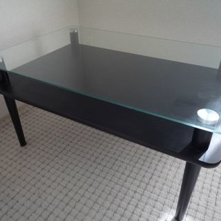 小型ローテーブル ガラステーブル +お皿セット