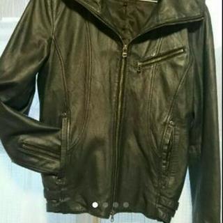 ルパート⭐羊革⭐フード付き ライダースジャケット