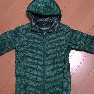 0円 ライトダウン(ユニクロ)S サイズ 緑