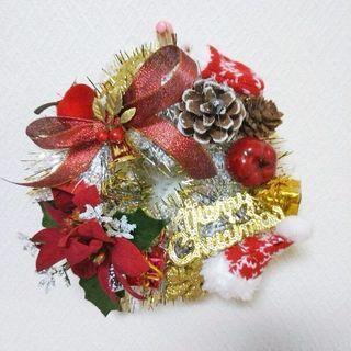 クリスマスリース ゴールド