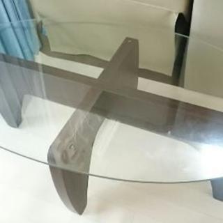 2way お洒落なガラステーブル