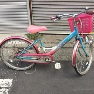 女の子むけ22インチ自転車