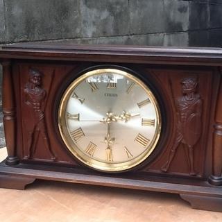 シチズンの昔の置時計(木製) 電子ストライク 時報装置付 昭和レト...