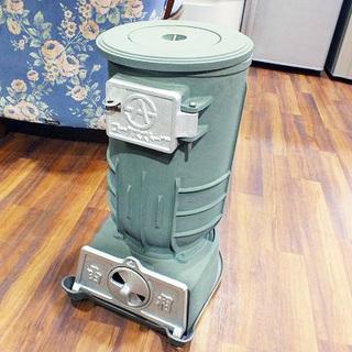 函相 石炭 鋳物製 コークスストーブ 小型 レトロ プレート付き現...