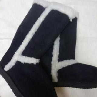 新品M黒のブーツ