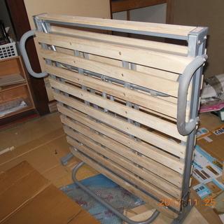 折り畳みすのこベッド シングル