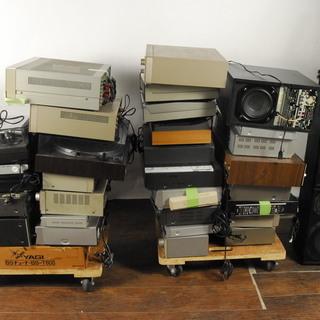 あげます。AV機器 計33台以上 ビデオカセットデッキ アンプ ...
