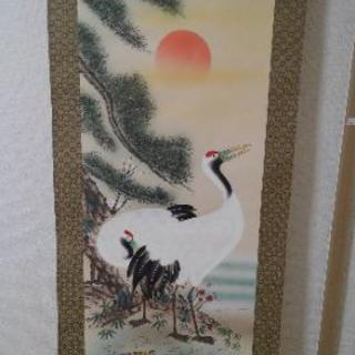 【値下げ】松竹梅鶴亀掛け軸