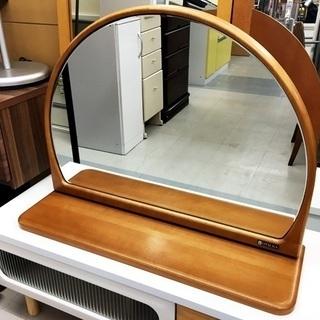 中古 大塚家具 チェストミラー 半円型