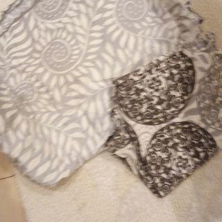 インド土産のシングルベッドカバーと枕カバーセット