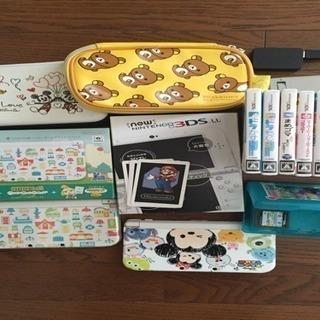 [中古]ニンテンドー 3DS LL 2セット マリオ他ソフト9本