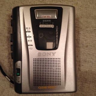 ジャンク品 カセットテープレコーダー