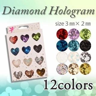 新品未使用ネイル専用ダイヤモンドホログラム12色セット