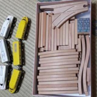 木製レール(電車二両付き)