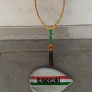 軟式テニス用ラケット緑中古