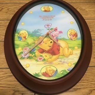 プーさん 壁掛け 時計 ディズニー 38x30cm