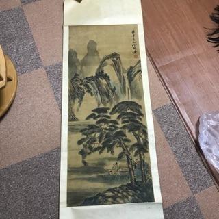 中国 古い 掛け軸 掛軸 絹本