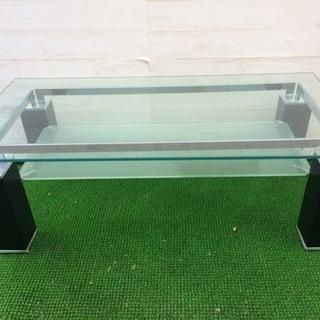 売約済⭐️オシャレ ガラステーブル ブラック