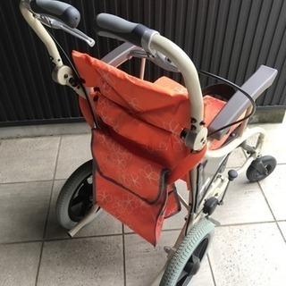 【中古】あい&ゆうき 歩行補助兼用車椅子12インチAY12-35 - 生活雑貨