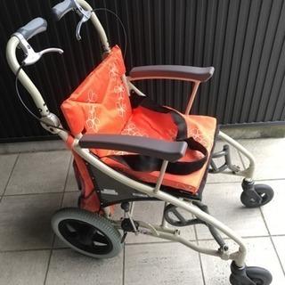 【中古】あい&ゆうき 歩行補助兼用車椅子12インチAY12-35 - 知多郡