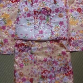 3歳 新品未使用 被布コート着物セット 蝶黄