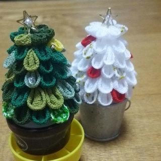 ★クリスマスツリーをつまみ細工で!★12月14日(木)午後2時から
