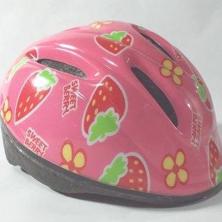 【取引完了】自転車用ヘルメット(幼児用)★イチゴ柄★中古
