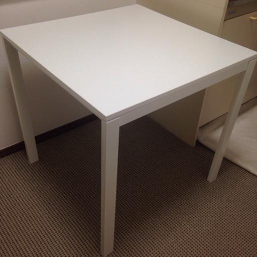 Ikea イケア Melltorp ホワイト テーブル ダイニングテーブル二人用 直接