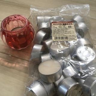 【muji】無印 キャンドル + ガラスキャンドルホルダー
