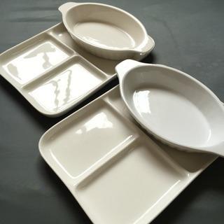 陶器の朝食プレート&グラタン皿