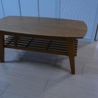 木のローテーブル