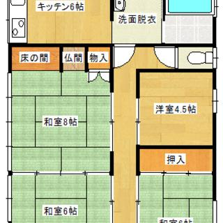 【犬猫可】ご希望で和室をフローリングにリフォームします! 安来 中津町② 貸家 改造自由DIY賃貸 - 安来市