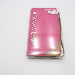 iPhoneⅩ (アイフォンⅩ) スマホケース おしゃれなデニムカバー 外側にもカードが入れれる珍しいタイプ HANMAN ピンク   - 売ります・あげます
