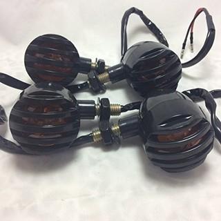 汎用ウインカー バードゲージ 4個 ブレット型 12V ブ…