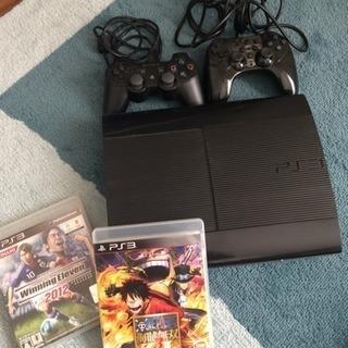 PS3 本体 + ソフト2本(コントローラー2台)
