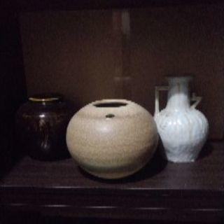 信楽焼の壺