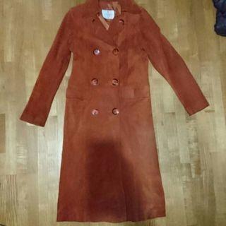 豚革ロングコート