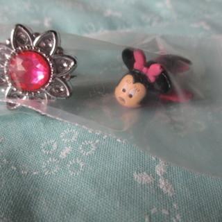 幼稚園くらいの女の子サイズ 指輪とミニーちゃんのミニ飛行機