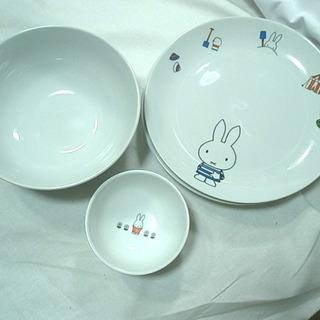 中古 ミッフィーの食器 お皿3枚 ボウル1ヶ ミニ鉢2ヶ フォー...