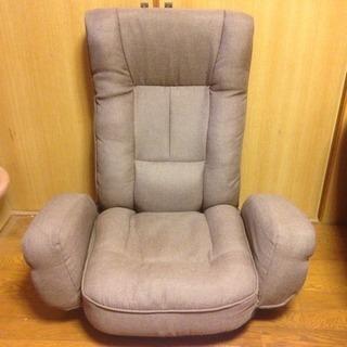 座椅子 (ヒジ付・リクライニング・座面回転)