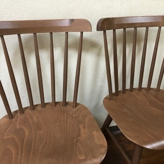 NOCE購入 曲木チェア2脚 木製椅子 - 北広島市