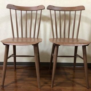 NOCE購入 曲木チェア2脚 木製椅子の画像