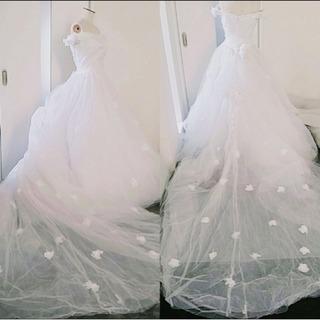 オーガンジー花のドレス